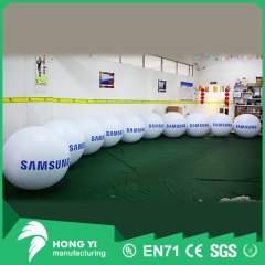 Advertising letter printing white inflatable backpack ball
