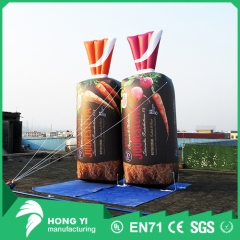 Outdoor giant inflatable bread bag for advertising and decoration