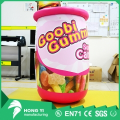 Inflatable pink head candy jar advertising printing candy jar