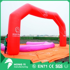 High quality outdoor large red inflatable arch logo printing inflatable arch