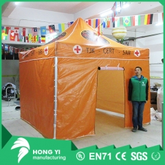 Orange folding tent outdoor shade tent outdoor activity canvas tent