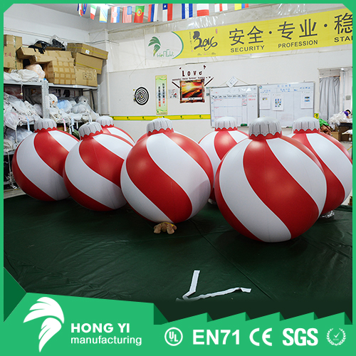 Indoor Christmas Decoration Hanging Inflatable Snowflake Christmas Ball