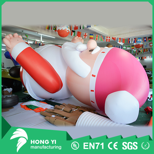 Cross-border selling Christmas toys decorated with giant inflatable Santa Claus
