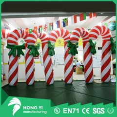 Customized Personality Christmas Decorations Giant Inflatable Candy Canes