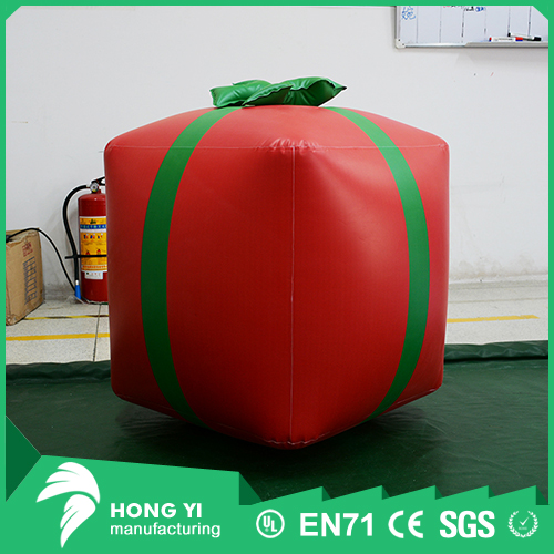 Customized quality Christmas crafts Christmas tree inflatable red gift box